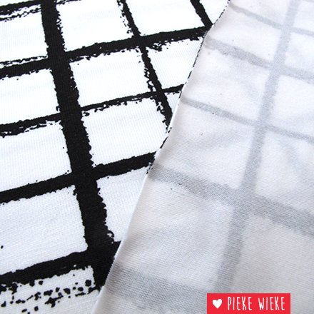 Jersey Misty Checks White black