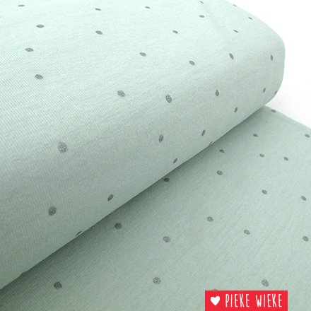 Jersey Hygge Mint with metallic dots