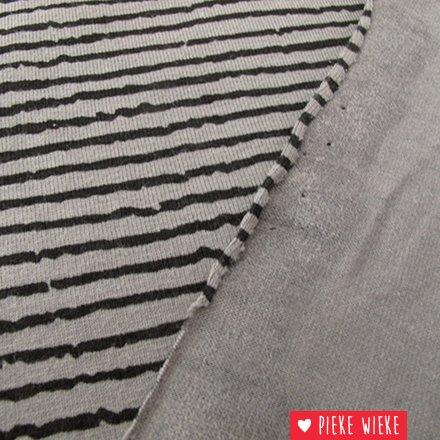 Tricot Blurry stripe Grijs