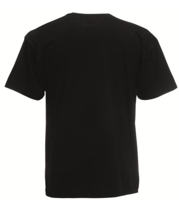 Fruit of the Loom 5 pack zwarte ronde hals Valueweight T-shirts