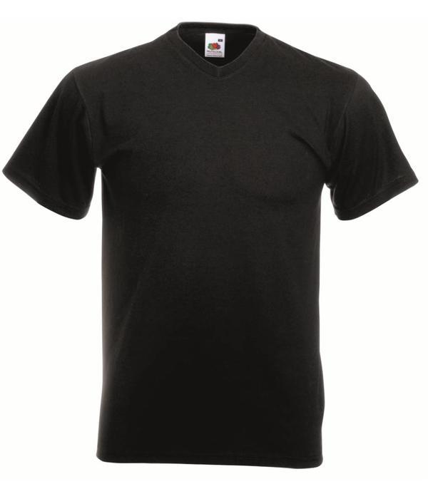 Fruit of the Loom 5 pack zwarte V-hals T-shirts
