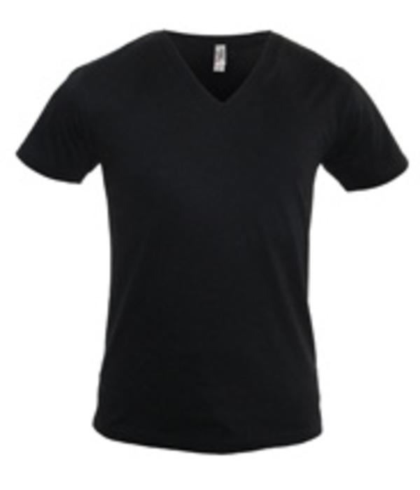 Logostar 2 pack zwarte diepe V-hals T-shirts