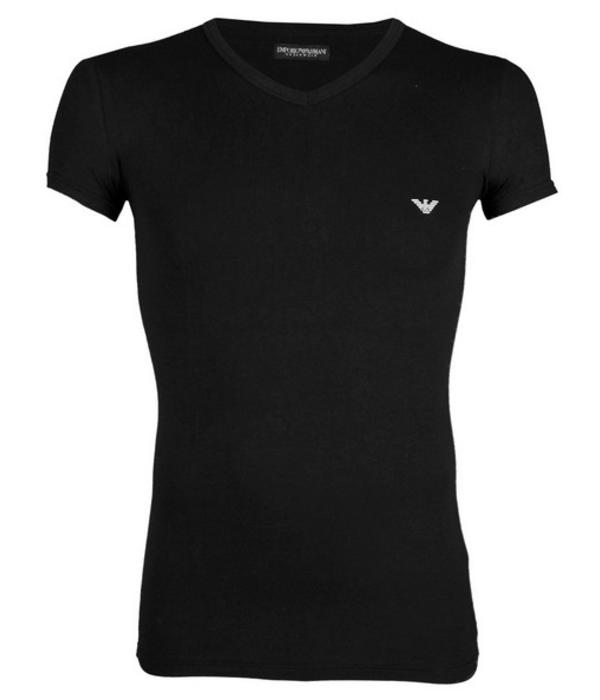 Emporio Armani zwart T-shirt V-hals