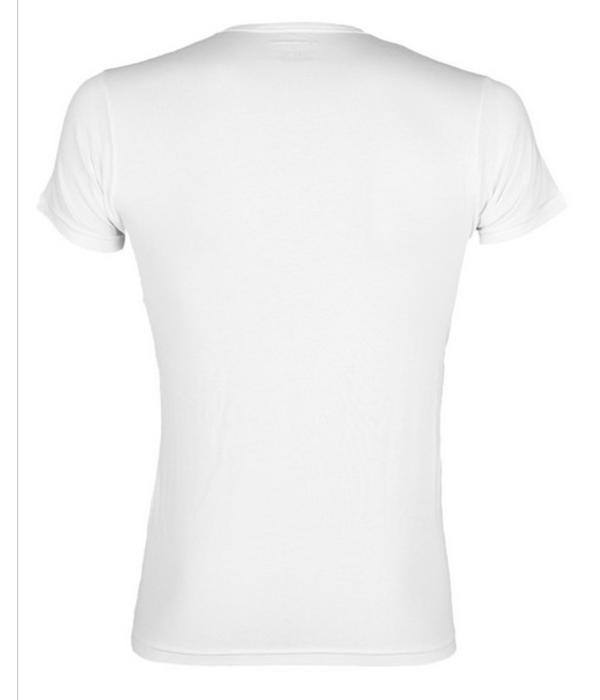 Emporio Armani wit T-shirt V-hals groot logo