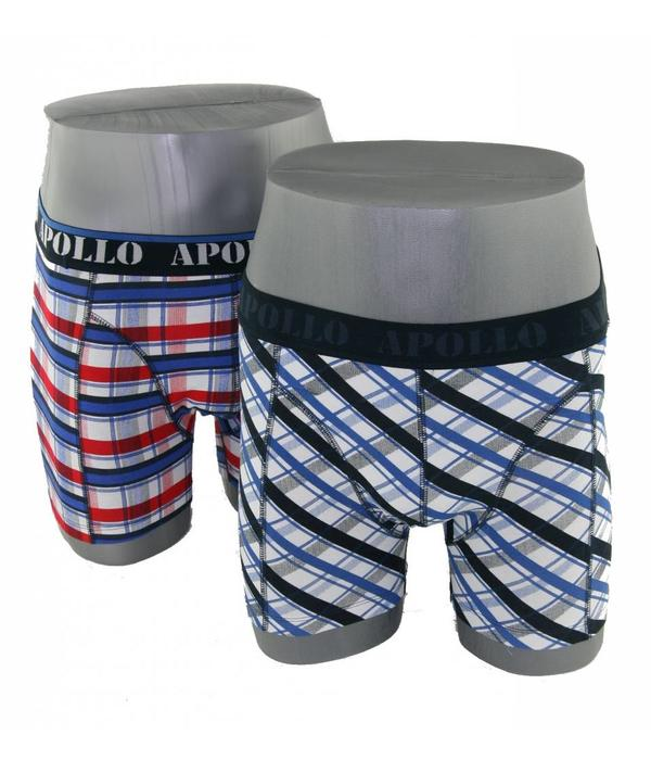 Apollo Underwear 2-pack blauw & rood