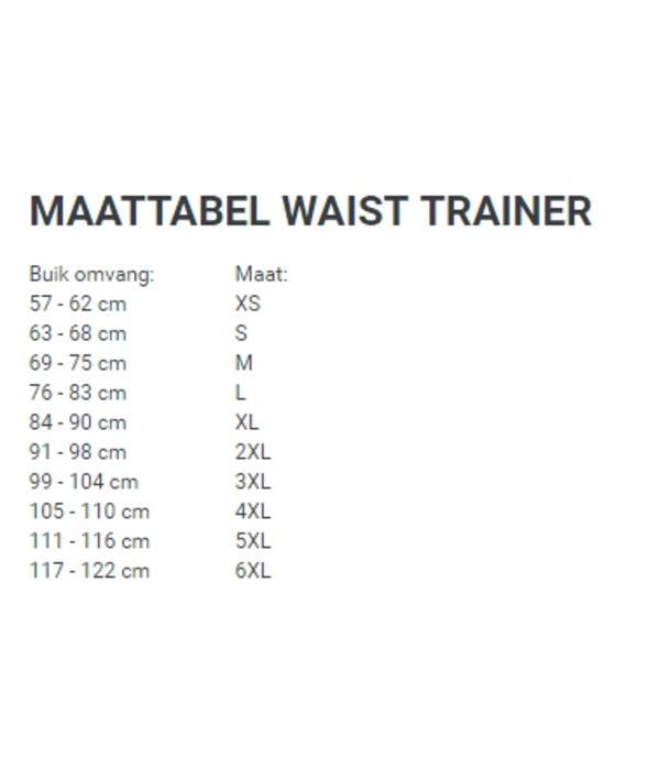 Latex waist trainer corset - zwart