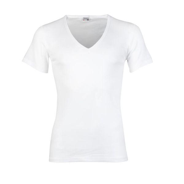 T-shirt diepe V-hals