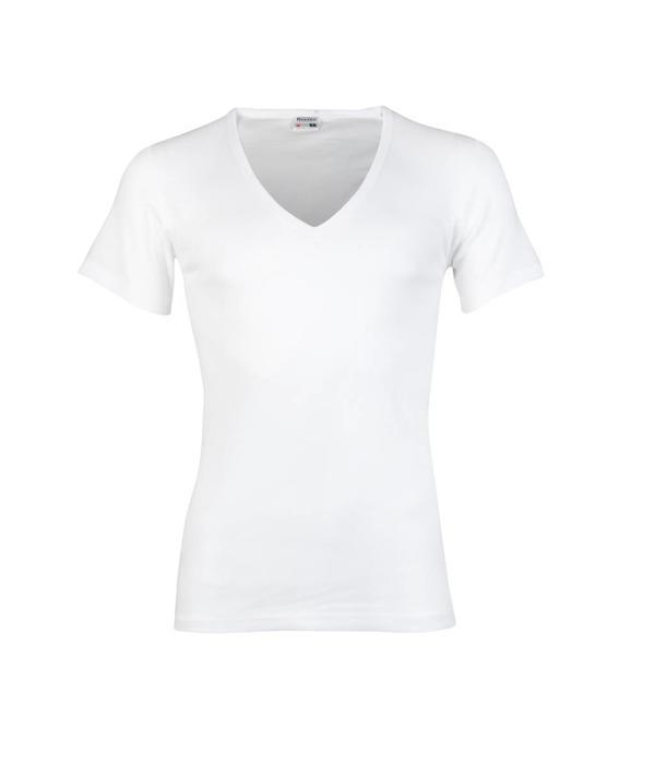 Beeren Bodywear wit T-shirt diepe V-hals