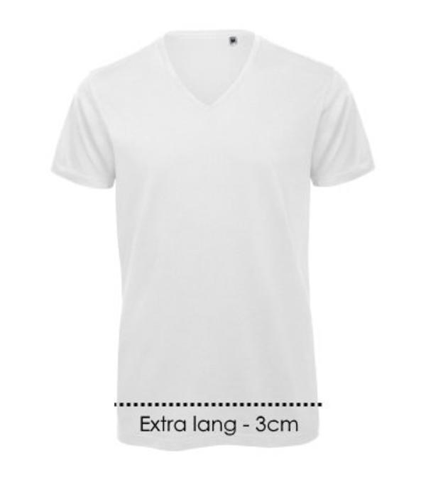 Logostar V-hals T-shirt Xtra lang
