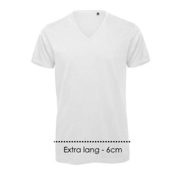 V-hals T-shirt XXtra lang