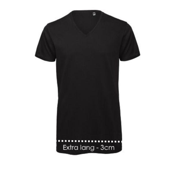 V-hals T-shirt Xtra lang