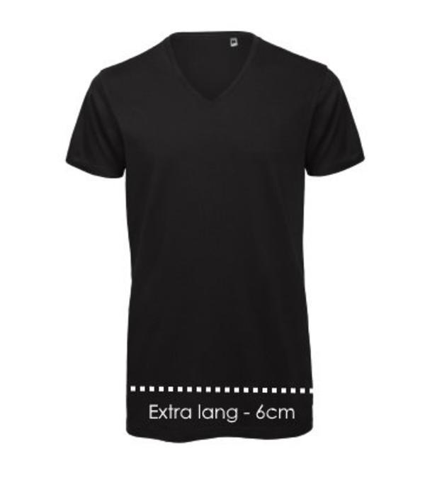 Logostar V-hals T-shirt XXtra lang