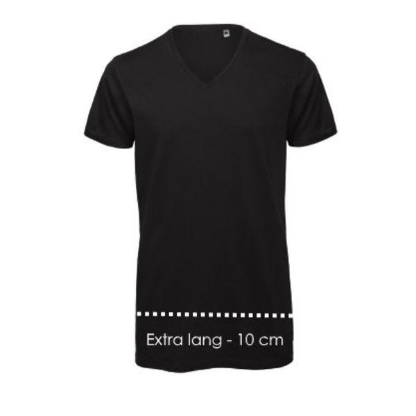 V-hals T-shirt XXXtra lang