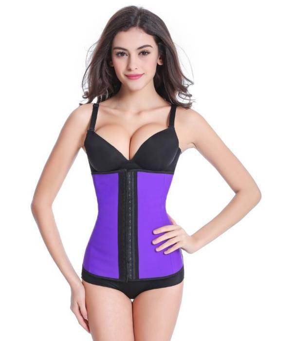 Latex waist trainer corset - paars