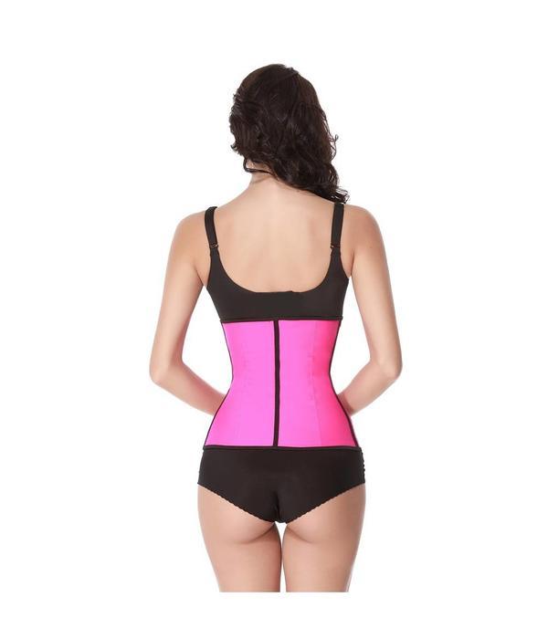 Latex waist trainer corset - roze