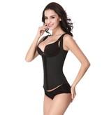 Latex waist trainer vest - zwart