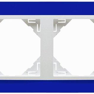 Efapel Animato afdekr. 2 voudig blauw/wit
