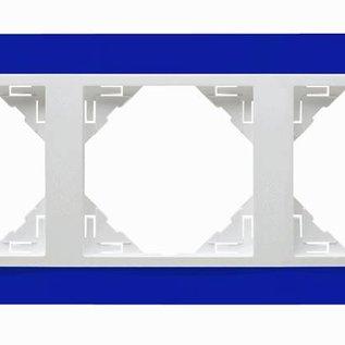 Efapel Animato afdekr. 3 voudig blauw/wit