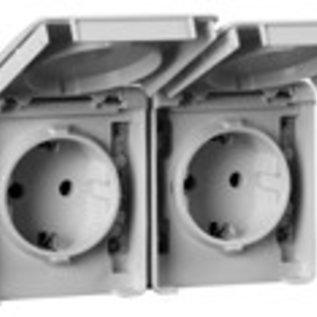 Efapel IP65 wcd 2V RA KV horizontaal grijs