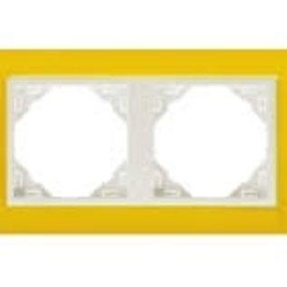 Efapel Animato afdekr. 2 voudig geel/wit