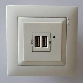 USB wandcontactdoos 45439 SBR