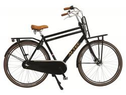 altec 28 inch altec retro transportfiets jongen/heren zwart