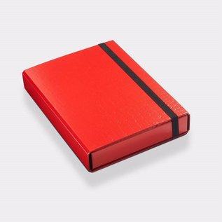 Klapr Opbergbox A4 50 mm 'croco' print rood
