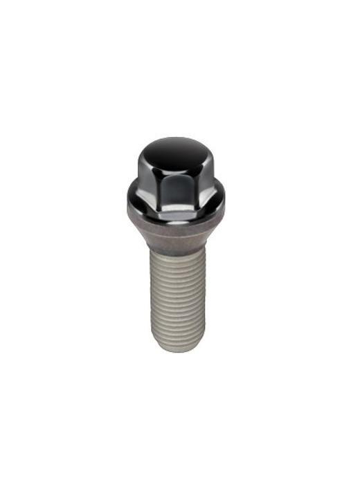 Wielbouten Conisch 12x1,5 - 26.0mm - K17 Zwart (50st)