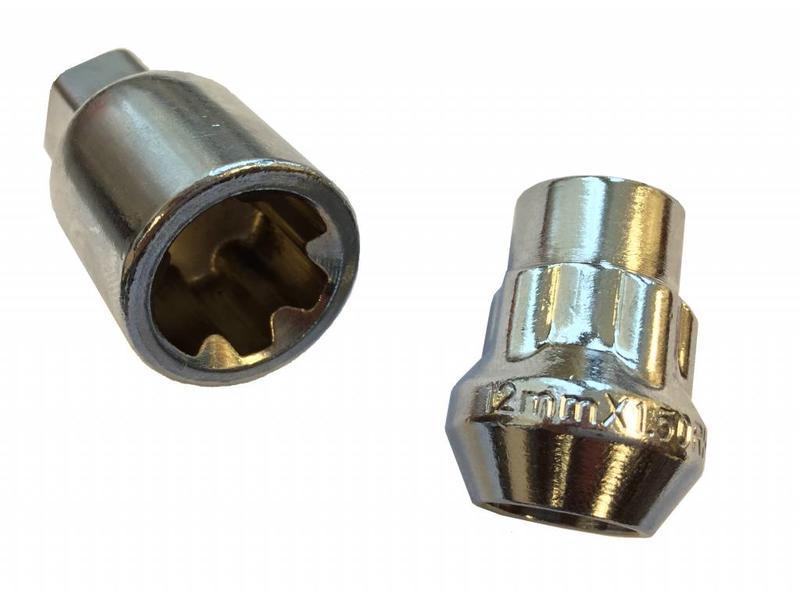 Evotek Slotmoeren Conisch 12x1,25 - 32 mm - kop 17