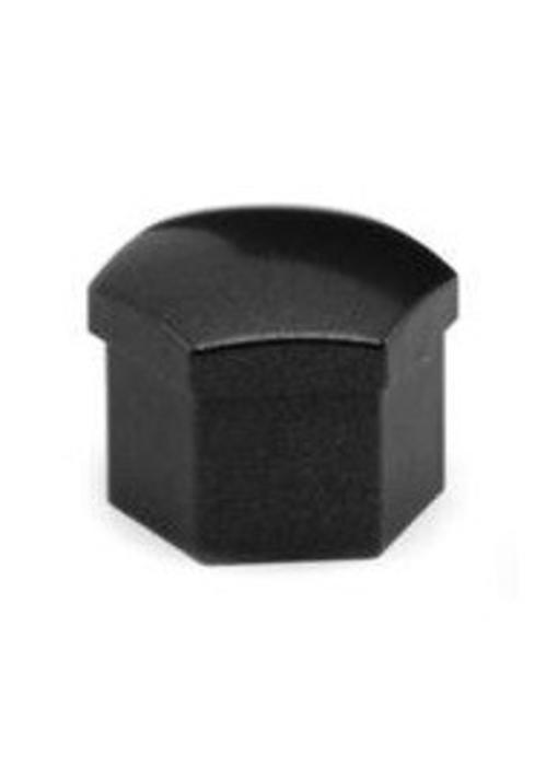 Wielbout / wielmoer kapjes (dopjes) Zwart KOP17 20 stuks