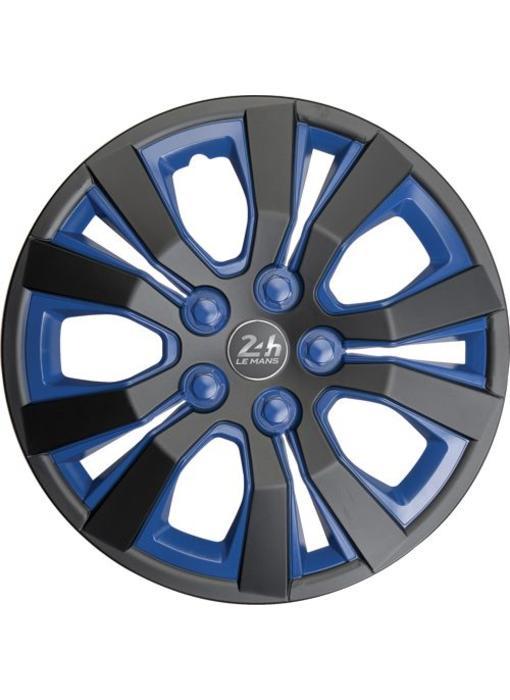 Set 4 stuks wieldoppen 13 inch Mat Zwart / Blauw
