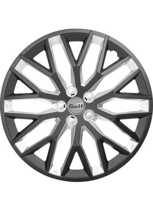 Set 4 stuks wieldoppen 14 inch GT40 Zwart/Zilver