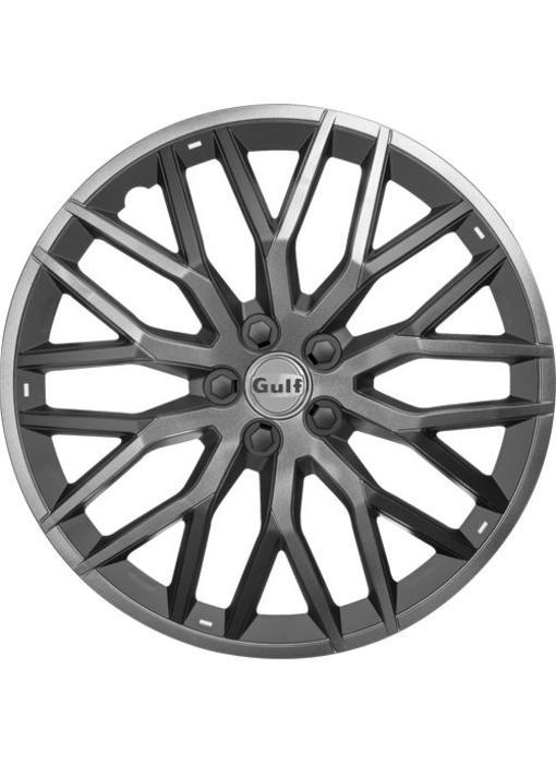 Set 4 stuks wieldoppen 16 inch GT40 Grijs / Zwart