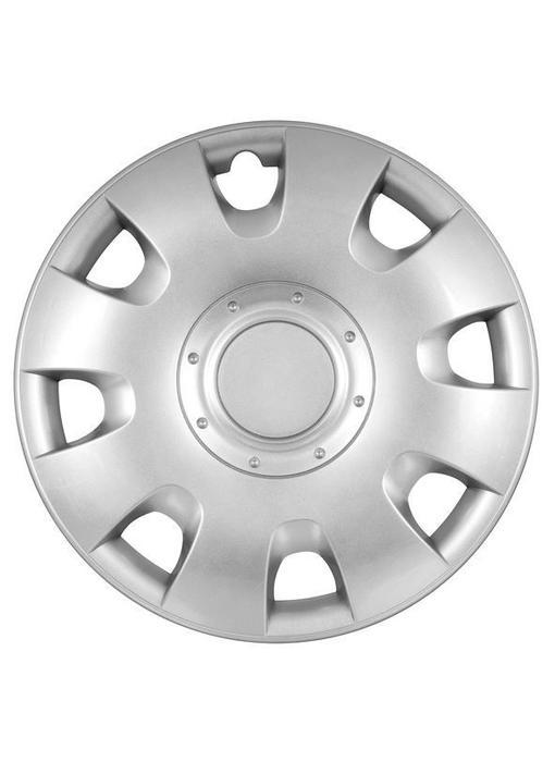 Wieldoppen set 14 inch Standaard Zilver (4 stuks)