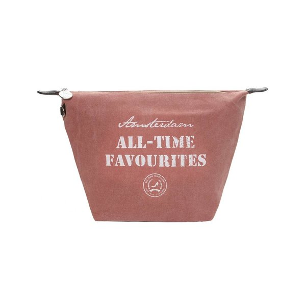 Toilettas Washed canvas Oud Roze