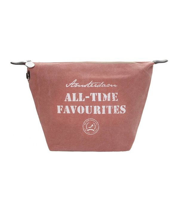 Toilet Purse Washed canvas Old Rose