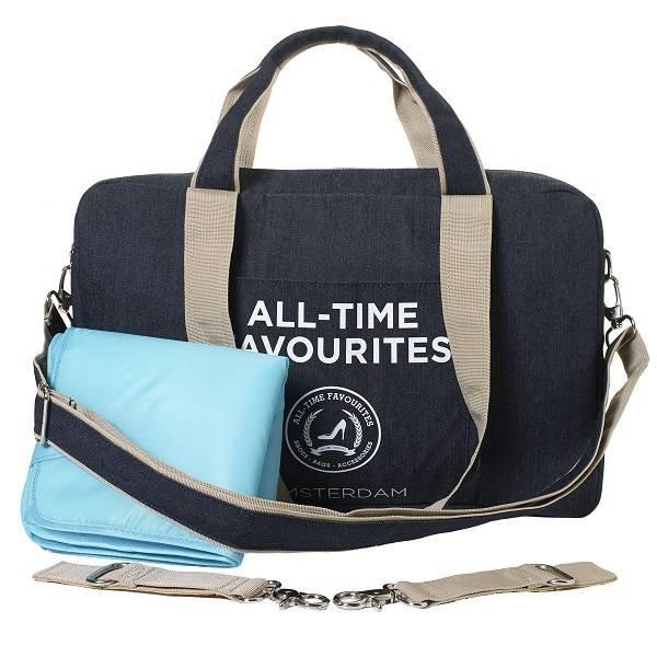 Mommy Bag Donker Blauw Denim