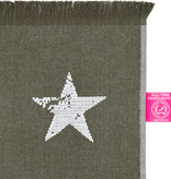 Strandlaken/hamamdoek Stars Groen