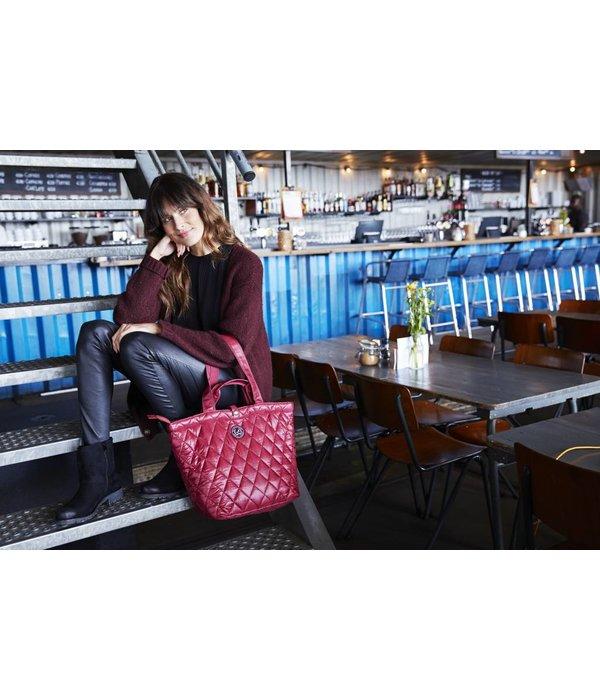 Kleine Shopper XS Quilted Bordeaux
