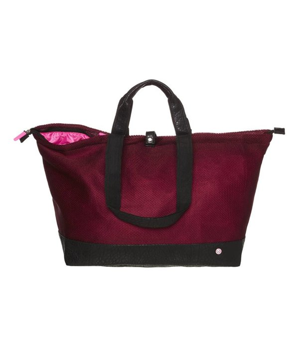 Kleine Shopper Croco/Bordeaux Mesh