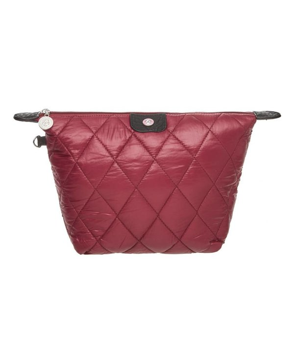 Cosmetics Bag Quilted Burgundy