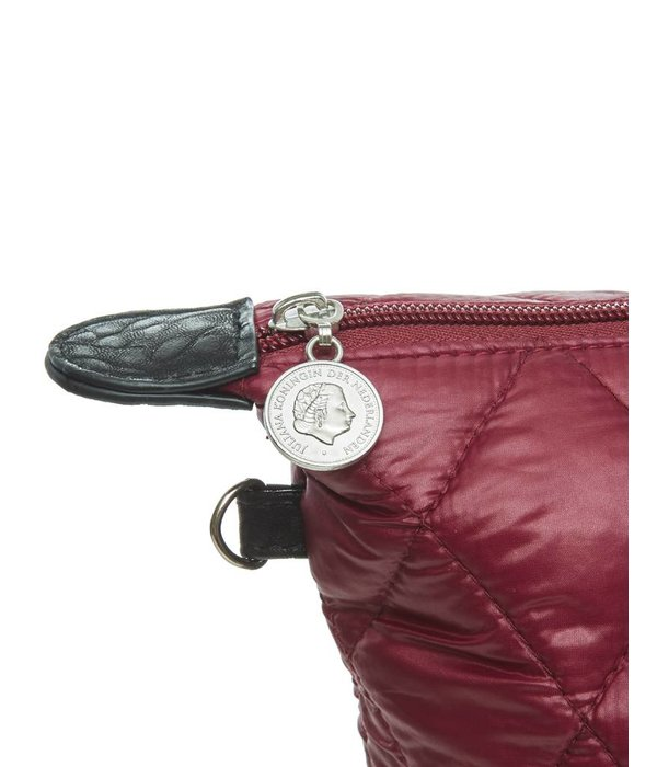 Toilet Purse Quilted Burgundy