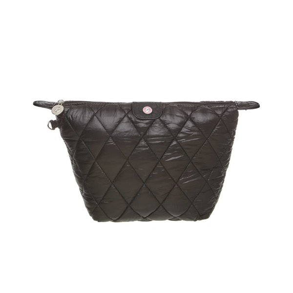 Toilet Purse Quilted Black