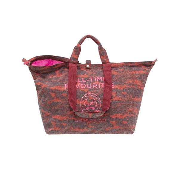 Kleine Shopper Camouflage Bordeaux