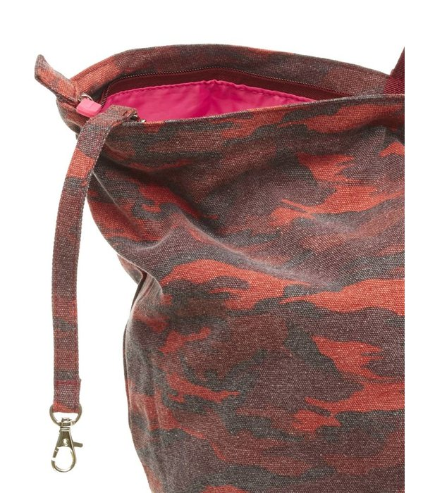 Small Shopper Camouflage Burgundy