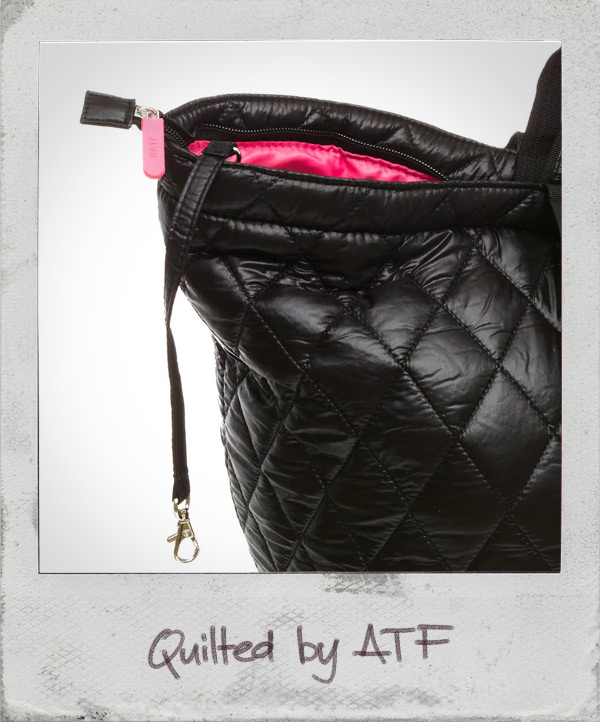 Quilted shopper black