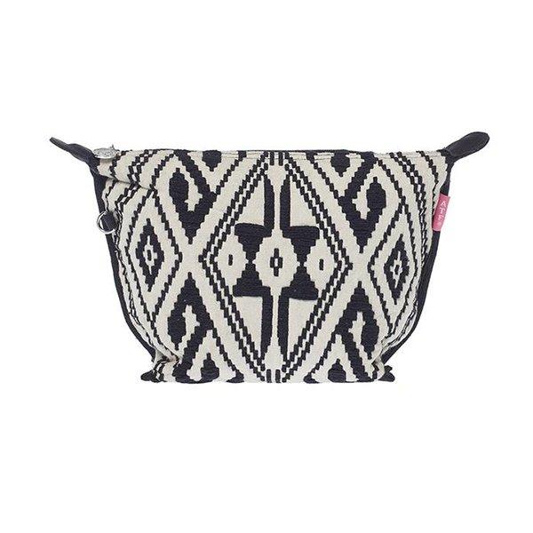 Cosmetics Bag Jacquard Black/White