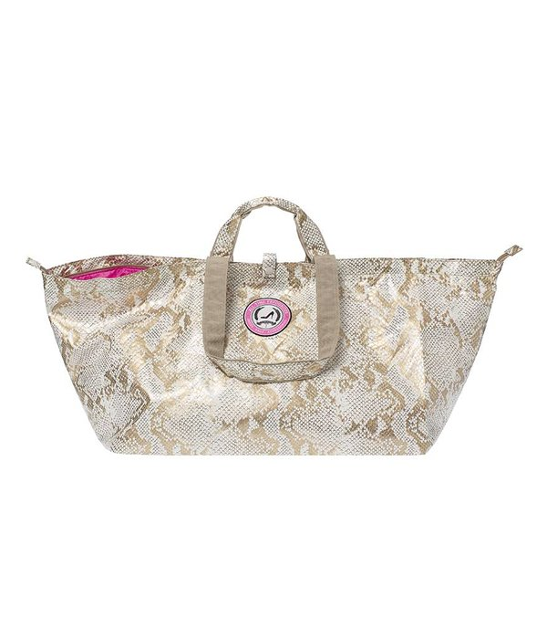 Grote Shopper Python goud/wit