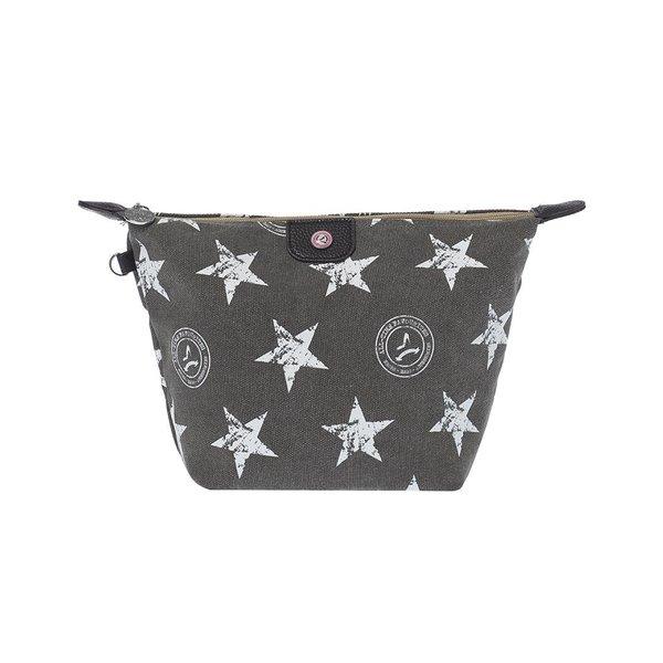 Cosmetics Bag Stars Grey