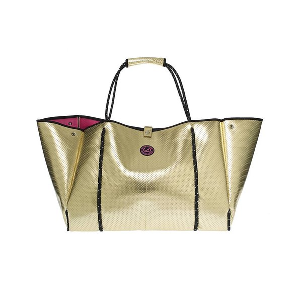 Grote Shopper Neoprene Goud